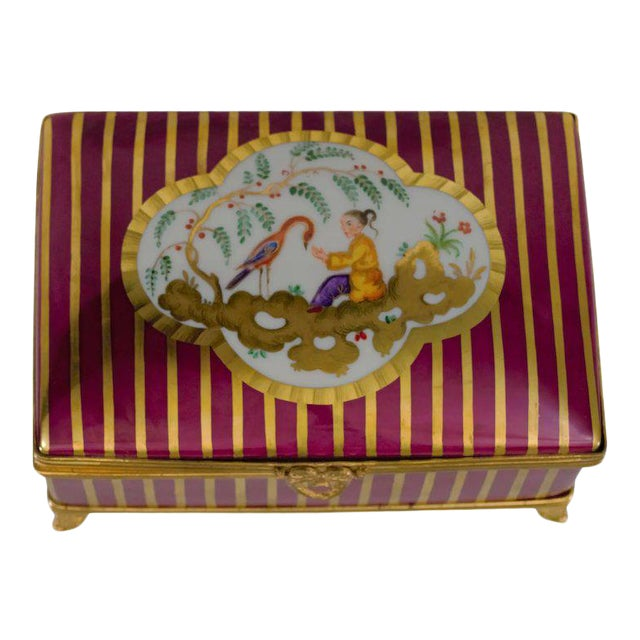 Atelier LeTallec Laque de Chine Porcelain Box For Sale