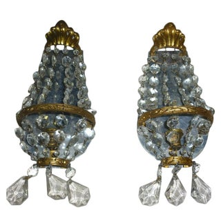 Murano Wall Sconces - Pair For Sale