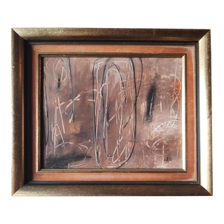 Modern Earthy Abstract Painting by Lad For Sale