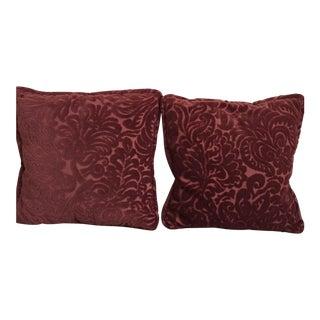 Custom Chenille Pillows - A Pair For Sale