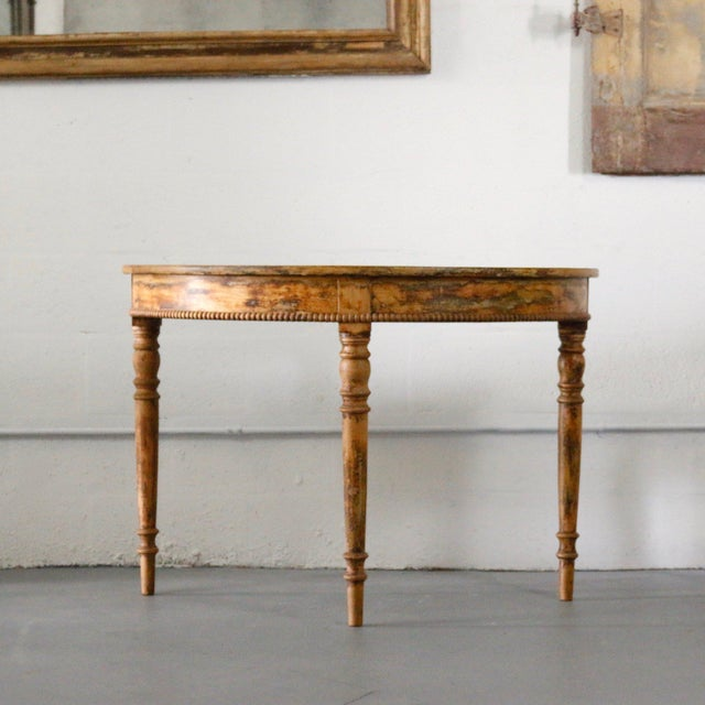 Pair of 19th Century Demilune For Sale In West Palm - Image 6 of 6