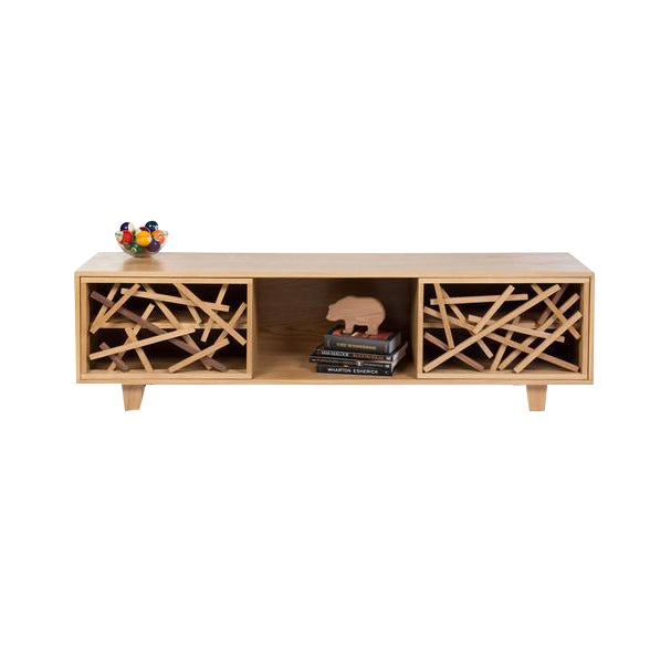 The Thistle Console, crafted from solid White Oak with Walnut details, houses all your entertainment needs, while being...