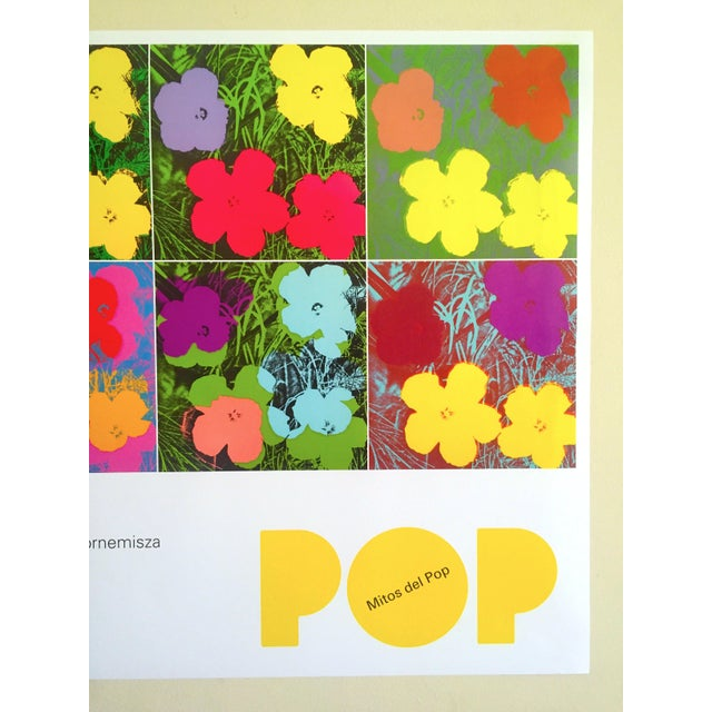"""Andy Warhol Andy Warhol Foundation """" Myths of Pop """" Museo Thyssen Lithograph Print Pop Art Exhibition Poster """" Flowers """" 1970 For Sale - Image 4 of 13"""