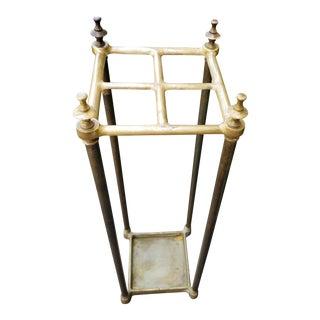 Antique 19th Century English Brass Umbrella Stand
