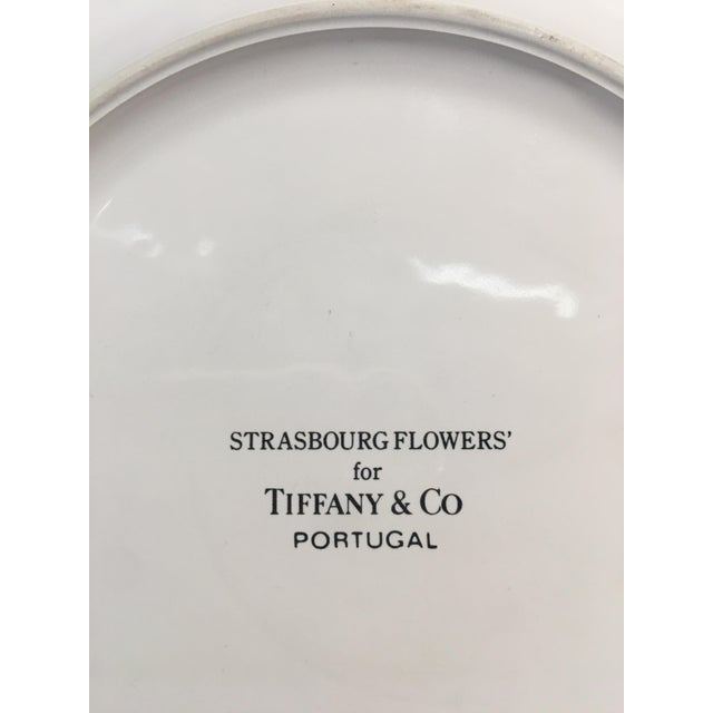 Cottage Vintage Tiffany & Co Strasbourg Flowers Pitcher and Plates Set - 5 Pieces For Sale - Image 3 of 10