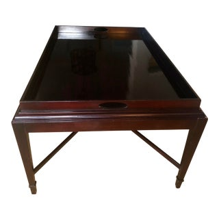 1990s Transitional Barbara Barry Tray Coffee Table For Sale