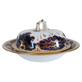 Antique Porcelain & Luster Butter Dish