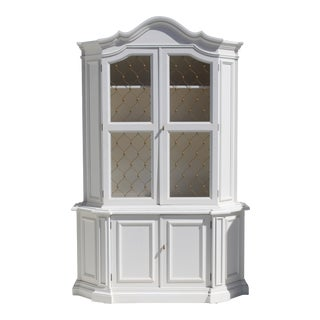 1940's Hollywood Regency China Cabinet by Medallion Limited of Miami For Sale