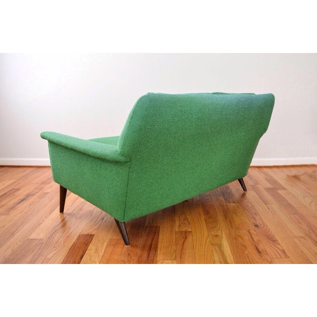 Green Mid-Century Folke Ohlsson Green Loveseat Sofa For Sale - Image 8 of 8