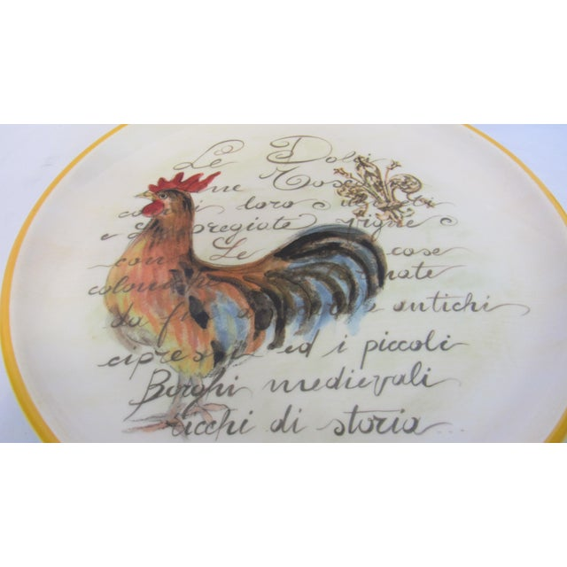 """15"""" Italian Rooster Plate with Stand - Image 4 of 5"""