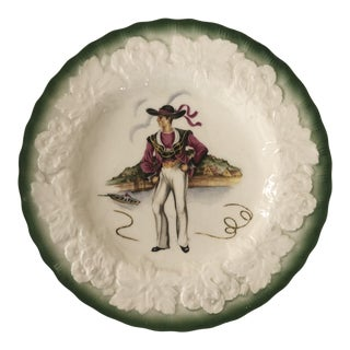 Vintage Alfred Meakin England French Costumes Plate For Sale