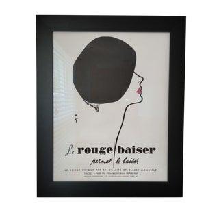Original Le Rouge Baiser Beret Poster
