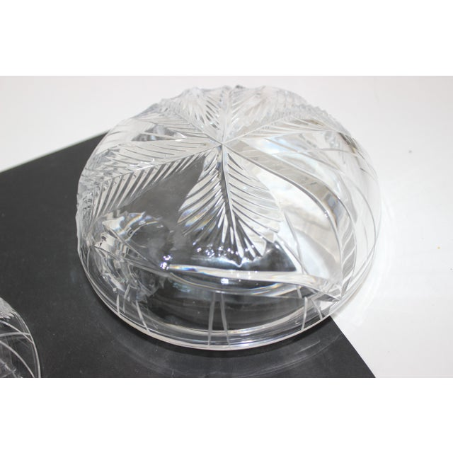 Transparent Palm Tree Lidded Box Bonbonnier in Cut Crystal For Sale - Image 8 of 11