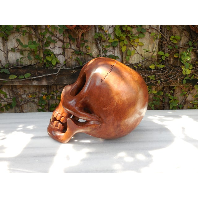Contemporary Wood Skull - Image 4 of 7