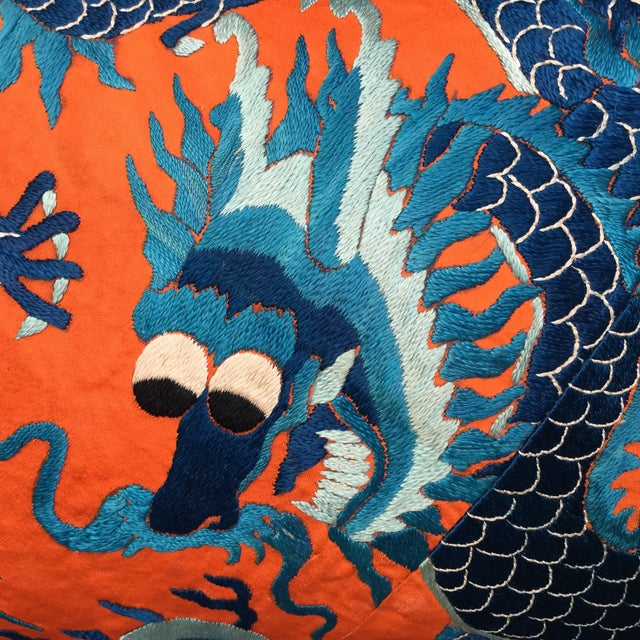 Chinese Emperor's Opera Robe Dragon Pillow - Image 7 of 8