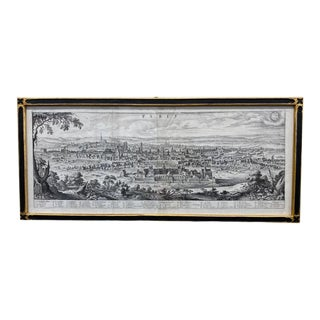 18th Century Map of Paris and Dijon, Framed For Sale