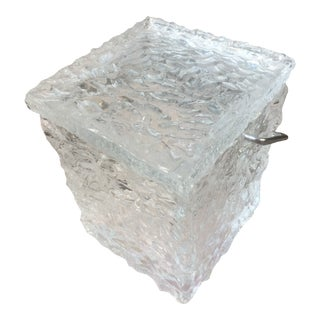 1960s Wilbarby Ice Bucket in Lucite For Sale