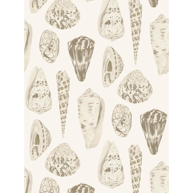 Red by Scalamandre Peel & Stick Wallpaper, Coquina, Cream For Sale