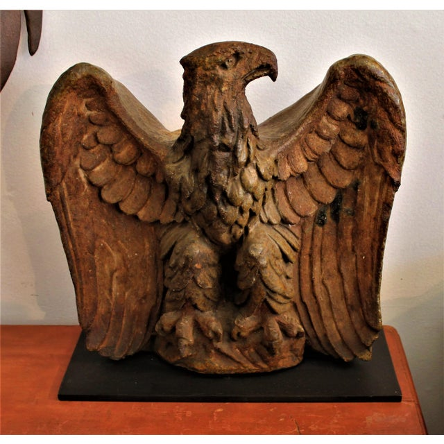 This amazing Folk Art sculpture of 19th century sewer tile or pottery eagle was from a private collection in New England....