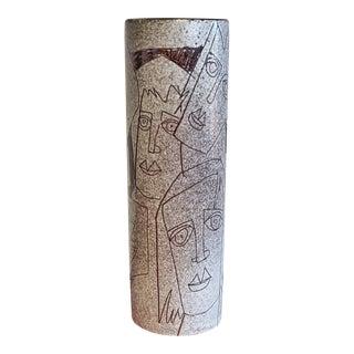 Charles Sucsan Studio Cylinder Vase For Sale