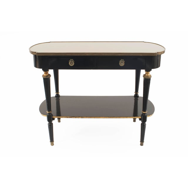 """Jansen Furniture French 1940s """"Louis XVI Style"""" Two-Tier Console Table For Sale - Image 4 of 4"""