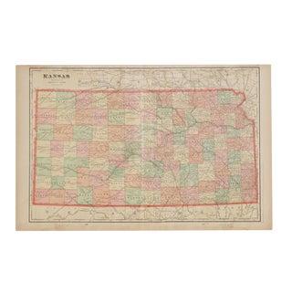 Cram's 1907 Map of Kansas