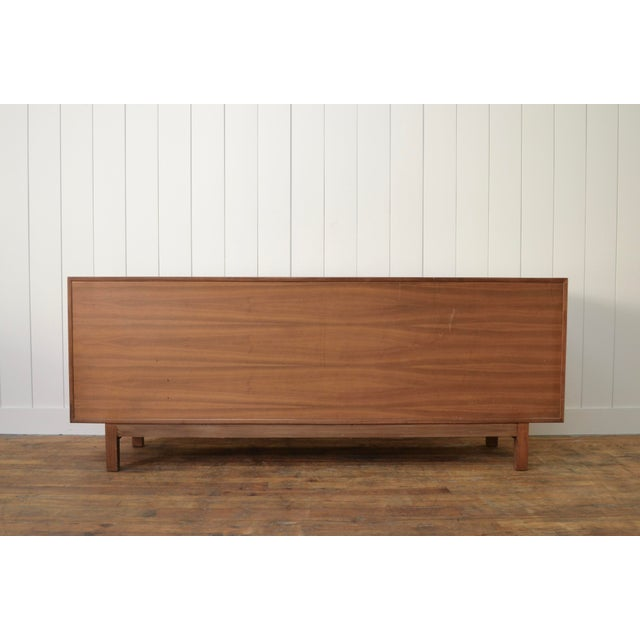 1970s James Mont Style Mid Century Credenza With Burl Doors For Sale - Image 5 of 12