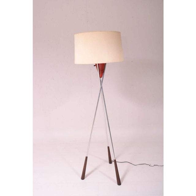 Mid Century Modern Tripod Floor Lamp For Sale In San Diego - Image 6 of 9