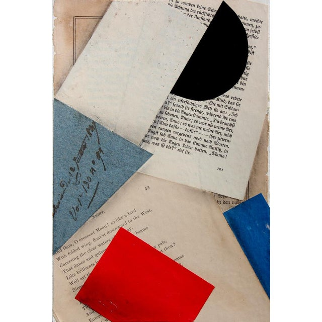"""Black Contemporary """"FS3197ct12"""" Collage by Cecil Touchon For Sale - Image 8 of 8"""