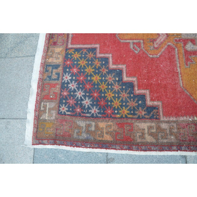 Turkish Bohemian Handwoven Carpet - 4′4″ × 8′5″ For Sale - Image 6 of 6
