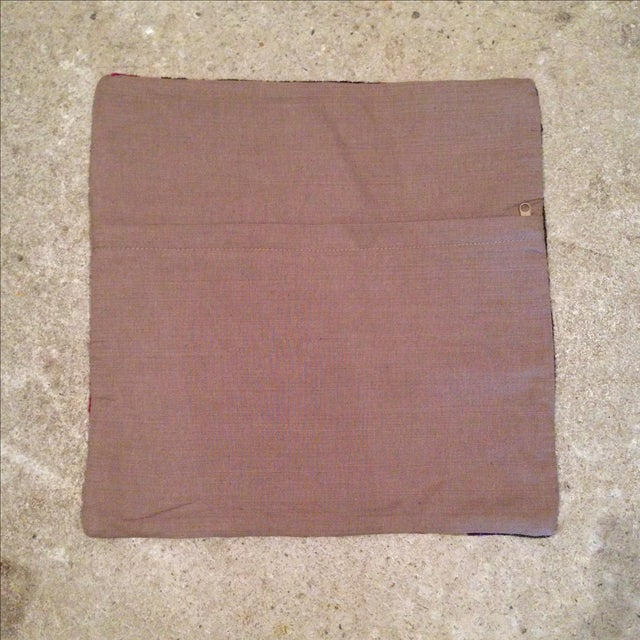 Vintage Striped Kilim Pillow Case - Image 5 of 5
