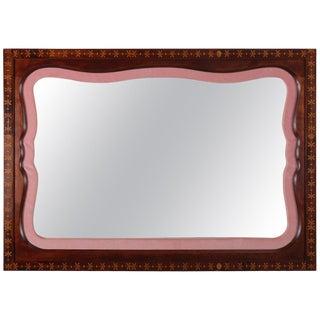 r.j. Horner School Mahogany and Satinwood Foliate Inlay Wall Mirror, Circa 1940 For Sale