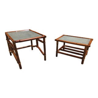 Vintage Ficks and Reed Co. Bamboo Accent Tables - a Pair