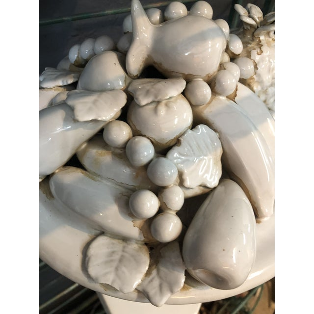 1980s White Porcelain Fruit Topiary For Sale - Image 5 of 6