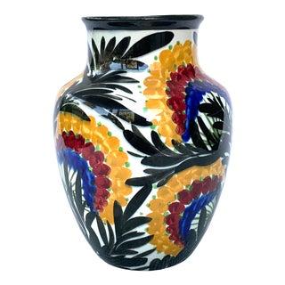 Antique German Art Pottery Vase For Sale