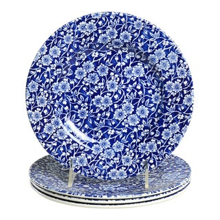 Queen's Calico Blue Salad Plate Set/6