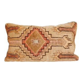 Turkish Muted Tones Vintage Rug Pillow Cover For Sale