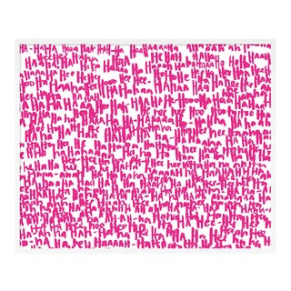 Haha Pink One by Kate Roebuck in White Framed Paper, Large Art Print For Sale