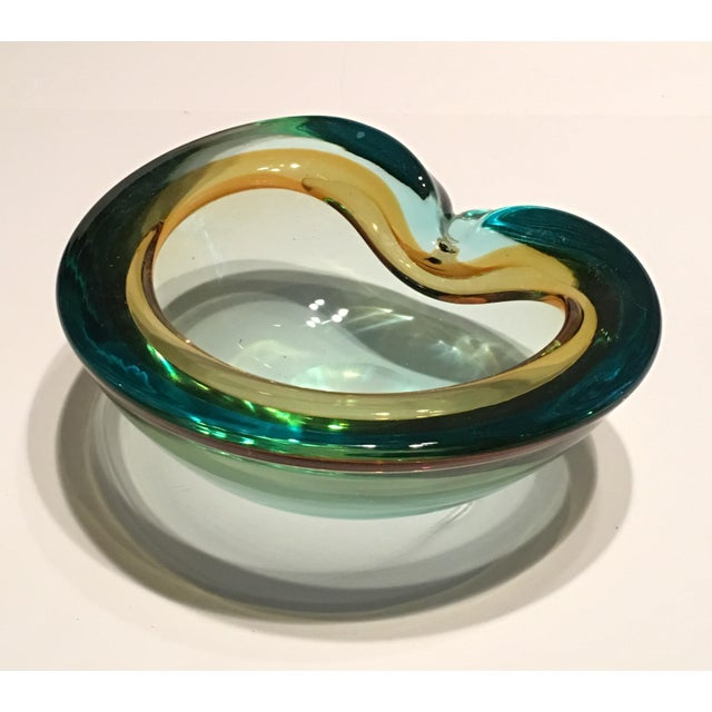Italian Seguso Cased Glass Ashtray - Image 2 of 6