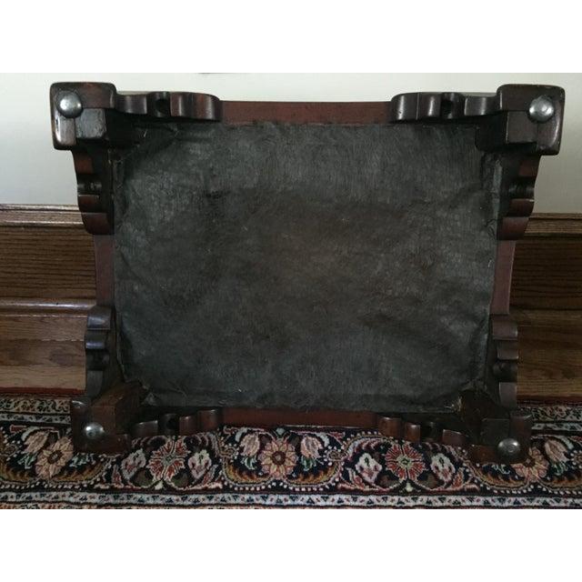 Antique Mahogany Footstool - Image 4 of 5