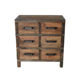 Boho Chic Wooden 6-Drawer Dresser For Sale