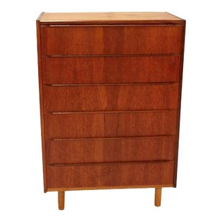 Teak Danish Mini Chest of Drawers For Sale