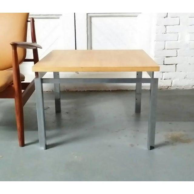 "Rare Poul Kjaerholm PK55 ""Variant"" table, as pictured on page 89 of Michael Sheridan's book ""Poul Kjaerholm: furniture..."