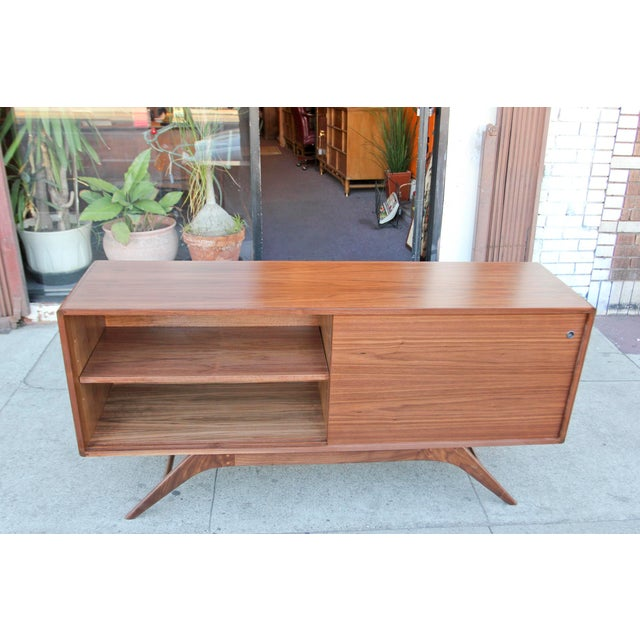 Not Yet Made - Made To Order Mid-Century Walnut Credenza For Sale - Image 5 of 12