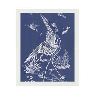"""""""Blue Crane"""" White Framed Wall Art For Sale"""
