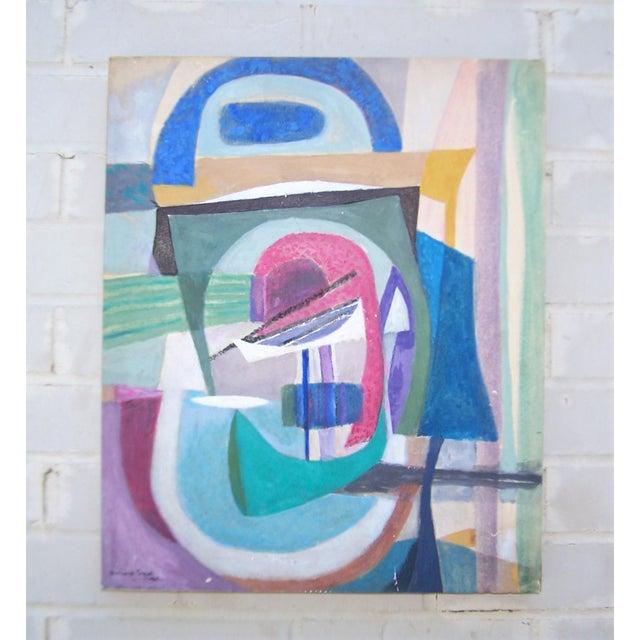 bernard segal abstract modernist painting chairish