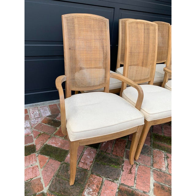 Mid-Century Modern Mid-Century Tall Cane Back Dining Chairs - Set of 6 For Sale - Image 3 of 10