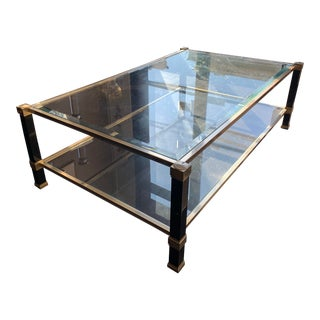 Metal and Glass Vandel Coffee Table For Sale