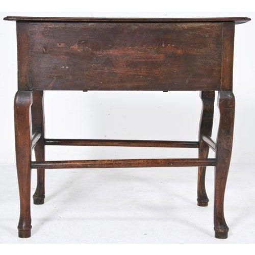 Early 20th Century Edwardian English Oak Dressing Table / Lowboy For Sale - Image 4 of 11
