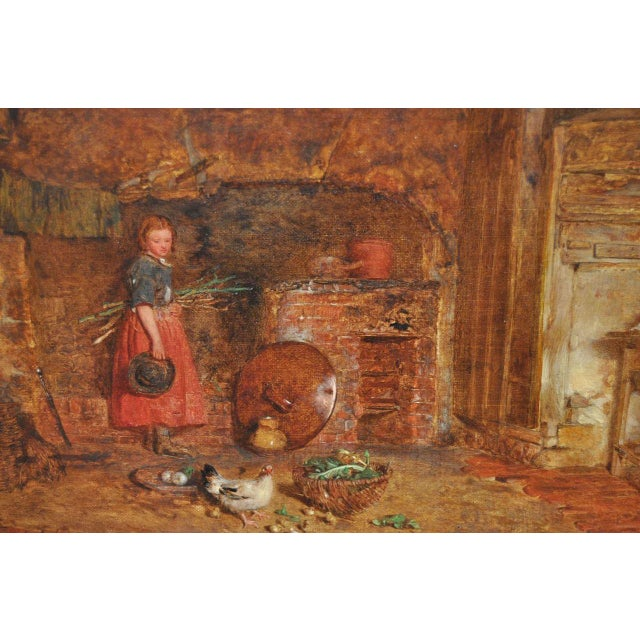 """Alfred Provis """"Young Domestic"""" Original Oil Painting - Image 3 of 10"""
